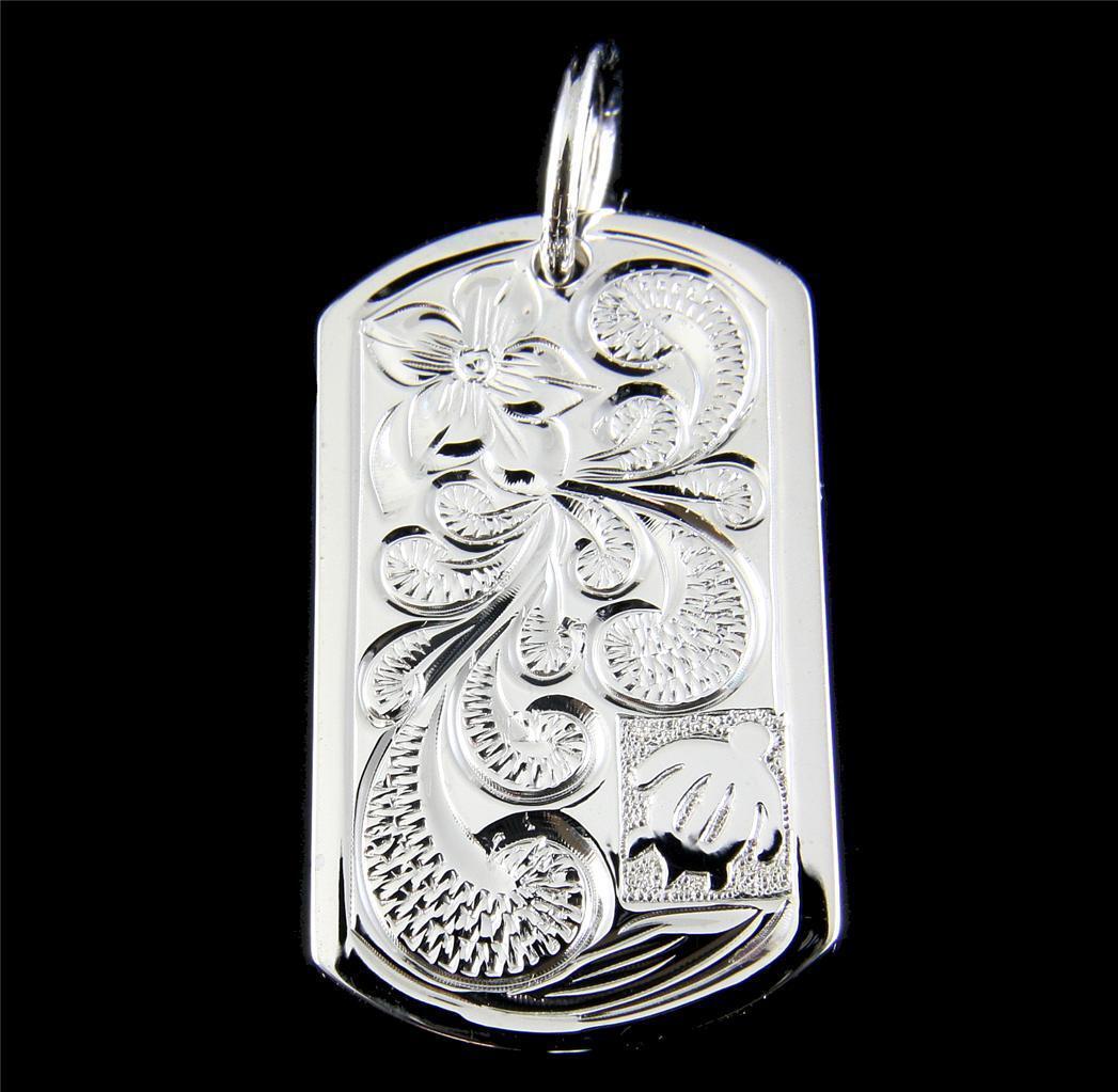 1bd4e7046ff silver Massif 925 Hawaïen Plumeria Fleur Volutes Honu Pendentif Lourde  Tortue nutfhc8377-Necklaces   Pendants