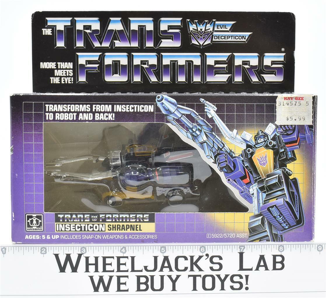 Shrapnel MIB 100% Complete E 1985 Vintage Hasbro Action Figure G1 Transformers