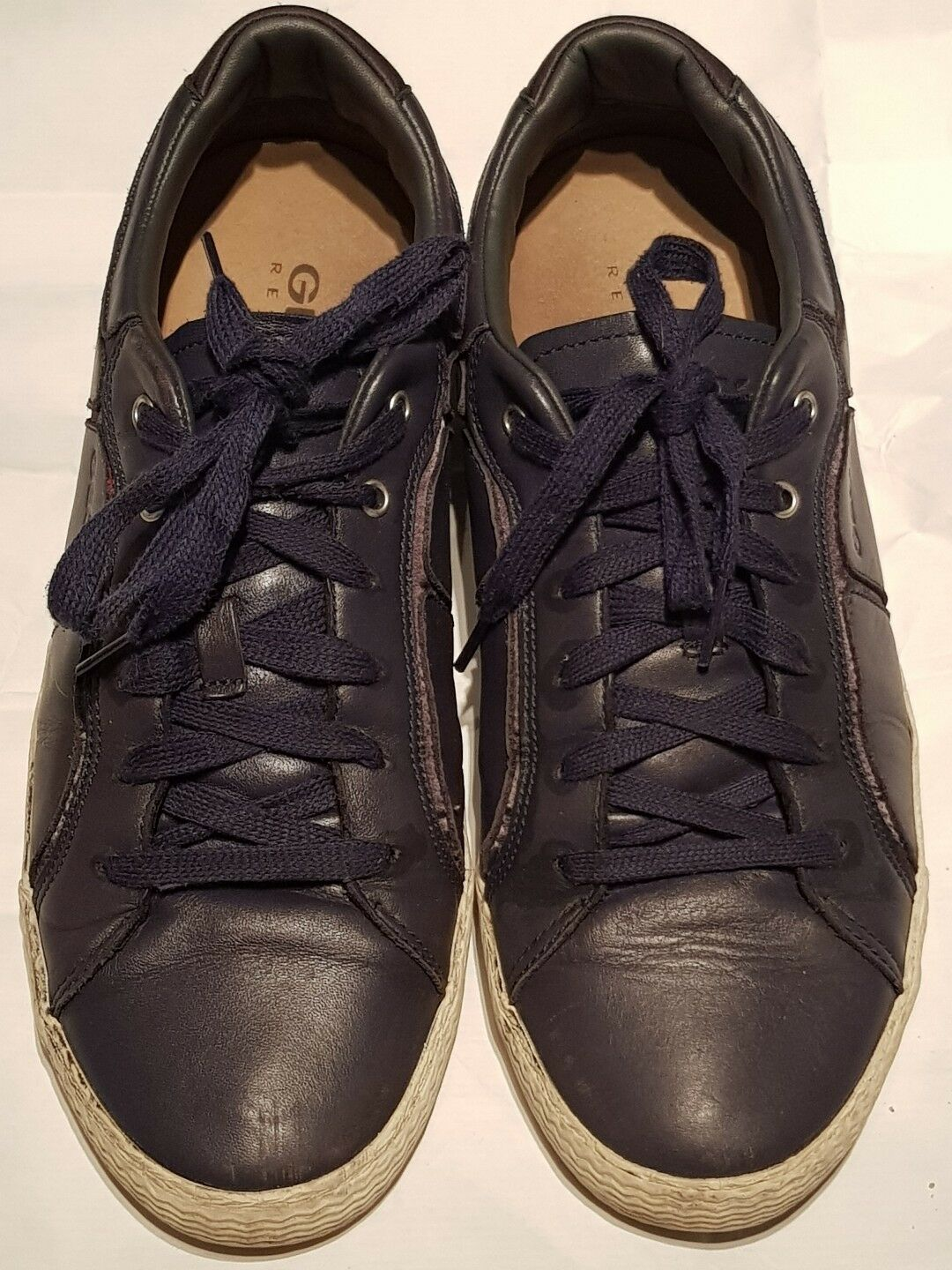 GEOX -RESPIRA MAN ELEGANT blueE LEATHER  LACE UP CASUAL SHOES US 10