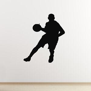 Distingué Joueur De Basket-ball Autocollant Mural-dribble Silhouette Autocollant Mural-afficher Le Titre D'origine Remise GéNéRale Sur La Vente 50-70%
