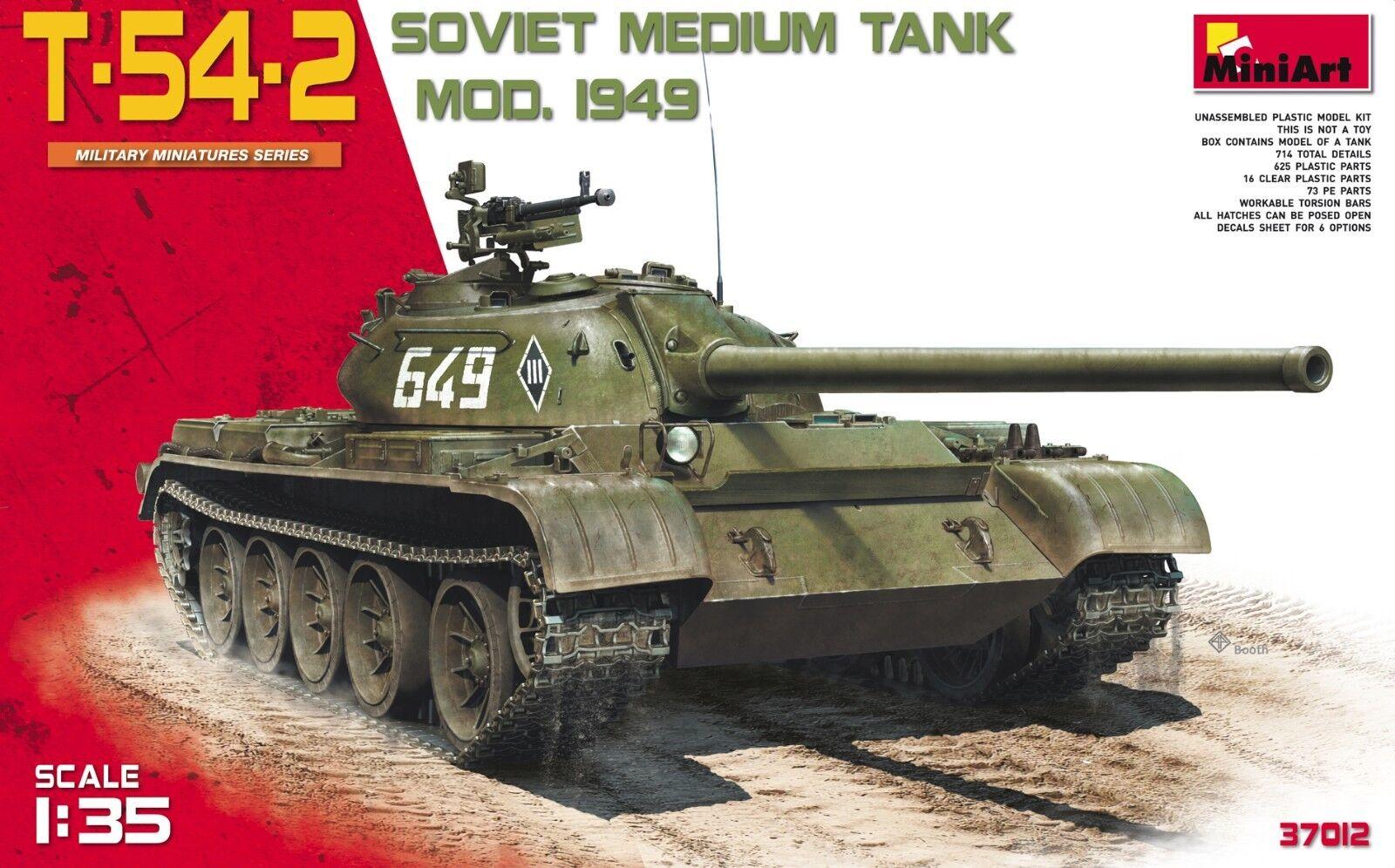 T-54-2 SOVIET MEDIUM TANK. Mod 1949 1 35 Miniart 37012