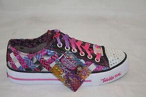 b410715a5d44 KIDS SHOE JUMPSTATER LIGHT UP SKECHERS GIRLS Black Pink 10455L BKHP ...