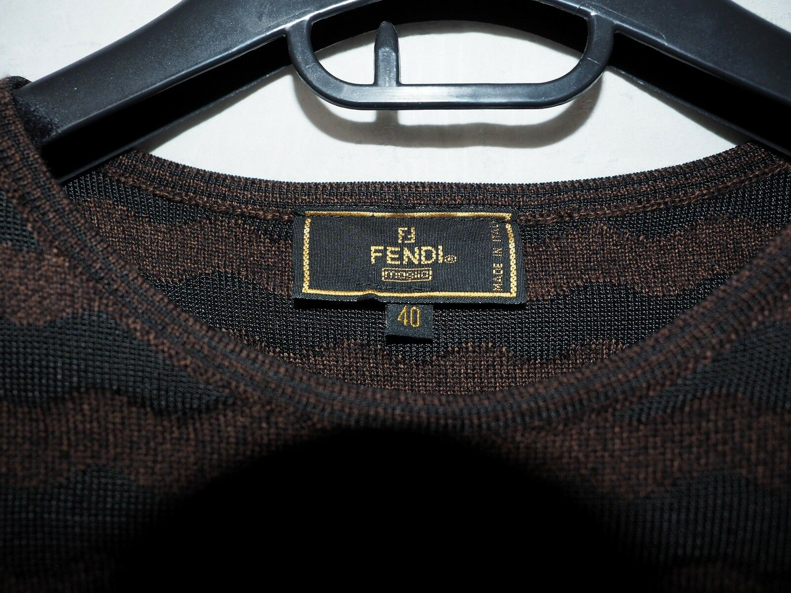 FENDI brown black wave wool sweater ladies jumper… - image 4