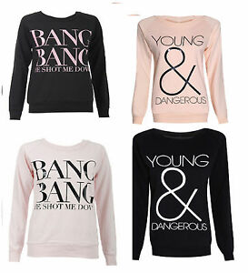 sweat femme slogan swag style star geek chic bd fashion haut ss13 ebay. Black Bedroom Furniture Sets. Home Design Ideas