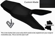 Negro Stitch personalizado se adapta a Honda Vfr 750 F las 90-93 Doble Cuero Funda De Asiento