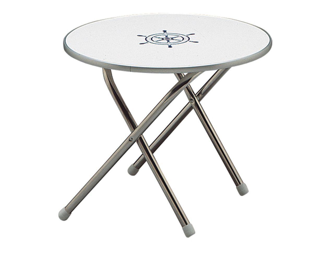 Forma mesa rojoonda m300 aluminio anodizado Cámping  mesa jardín 60cm bote balcón  nuevo sádico