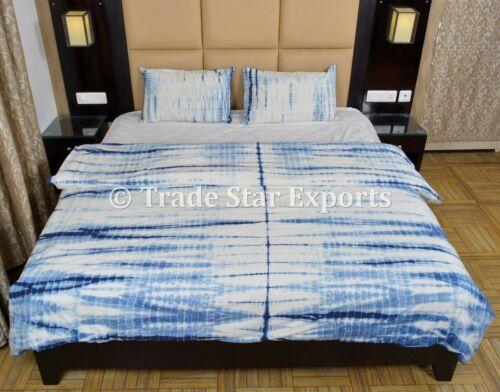 Hand Tie Dye Quilt Cover Set Cotton Queen Shibori Duvet Cover With 2 Pillow Case