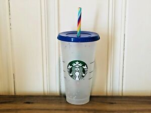 Starbucks 2020 Summer Confetti Color Changing Cold Cup Speckled Tumbler 24 oz