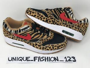 Nike X Atmos AIR MAX 1 DLX Animale BESTIA Confezione da 2.0 UK9