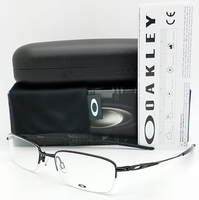 c1b20701ec41 NEW Oakley OX3133 RX Prescription Frame Black OX3133-0251 51mm Rimless Half  Rim
