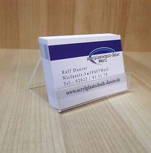 10 Stück Visitenkartenständer Visitenkartenhalter