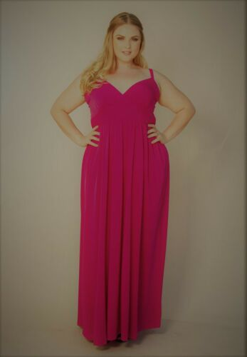 0a1b8e9de23 10 of 11 Plus Size Maxi Dress Empire Waist Sleeveless Polyester Blend Solid  1X-6X SWAK