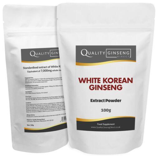 10:1 Stärke /& Qualität Weiß Koreanischer Ginseng Extrakt Pure Weiß Panax