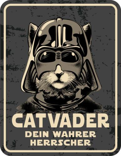 Catvader Dein wahrer Herrscher Fun Schild Katzen Blechschild Geschenk