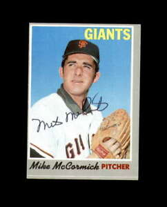 Mike McCormick Hand Signed 1970 Topps San Francisco Giants Autograph
