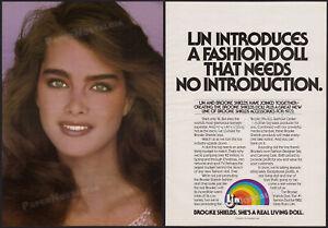 BROOKE-SHIELDS-Original-1981-Trade-print-AD-LJN-Fashion-Doll-promo-poster