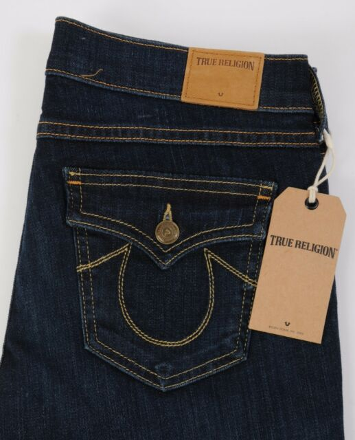 Women's NEW True Religion Jeans CASEY Super Skinny Core w Flaps Size 29 Low Rise