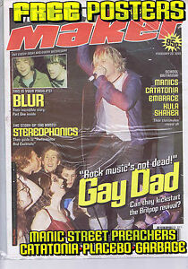Details about GAY DAD / BLUR / STEREOPHONICS / MANICS Melody Maker +  POSTERS Feb 20 1999