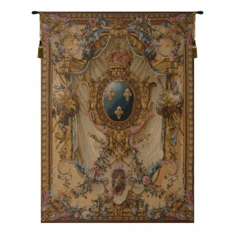 Grandes Armoiries Creme I French Tapestry Wall Hanging