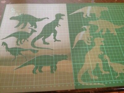 DINOSAUR SET 2  STENCIL REUSABLE FROM A4 180 micron