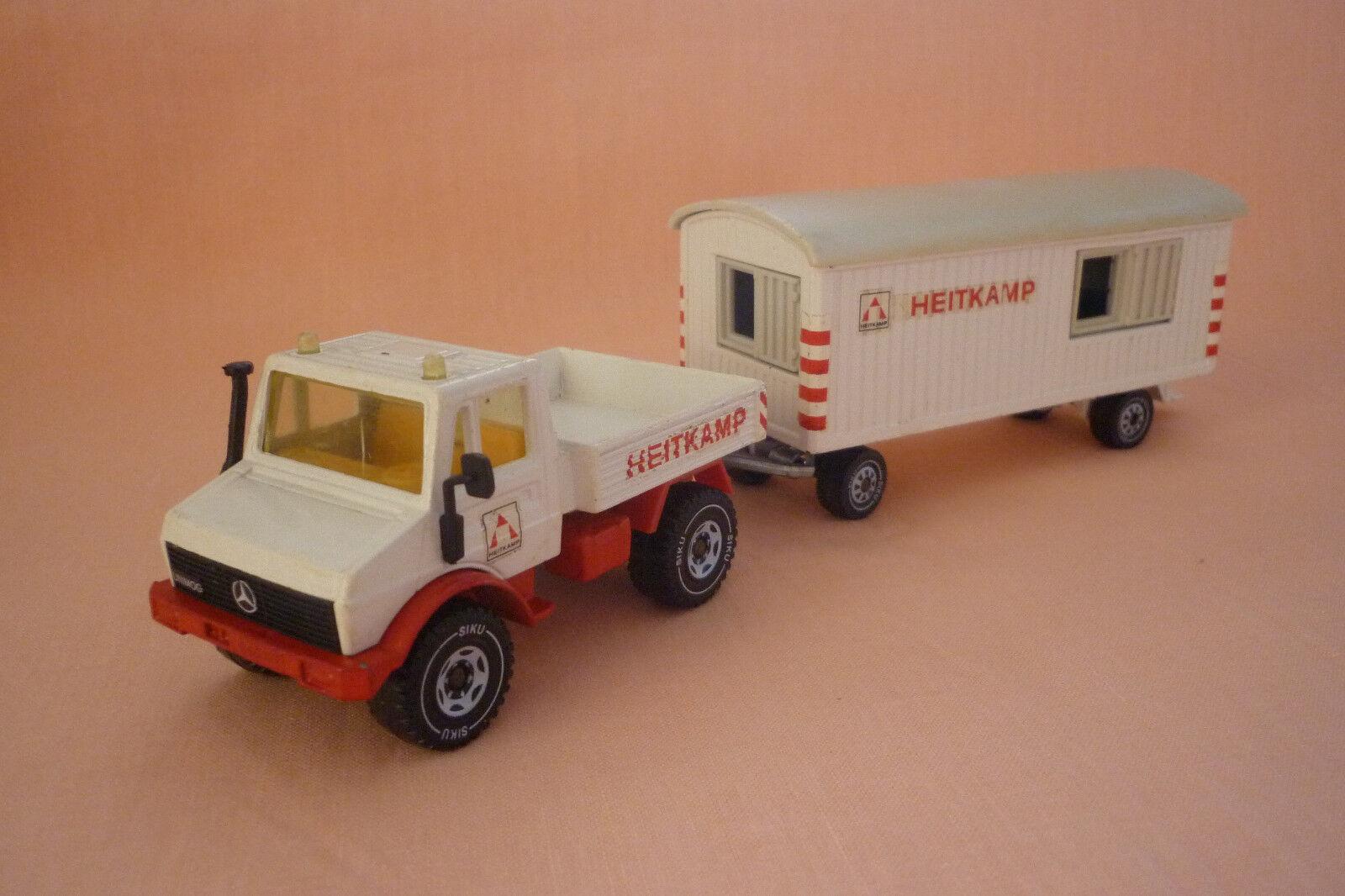 SIKU  modèle-UNIMOG U 1500 avec chantier Heitkamp Set - 2519 - (7.si-35)