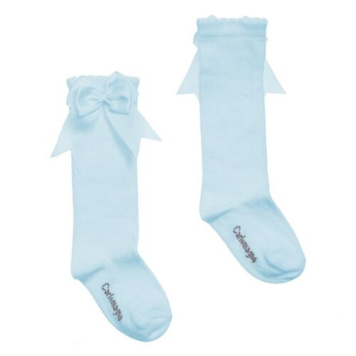 Carlomagno Knee High Side Bow Socks in Grey,Navy /& Blue sizes 16//17 to 32//35 G2