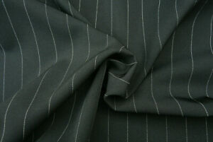 BLACK-PIN-WHITE-STRIPE-FINE-TAILORING-QUALITY-GABARDINE-WASH-amp-GO-MADE-IN-ITALY-A6