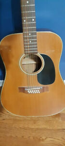 Aria 12 String Acoustic guitar 1970's Vintage Made in Japan