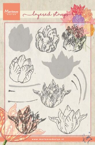 Marianne Design Layering TINY/'S TULIP Clear  Stamps TCO0852