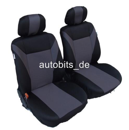 2x Schonbezüge vordere Sitzbezüge Grau Schwarz für Subaru Suzuki Toyota Volvo VW