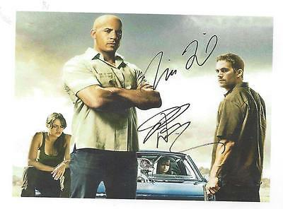 PAUL WALKER VIN DIESEL Fast And Furious RP Autographed HQ GLOSSY FRIDGE MAGNET 7