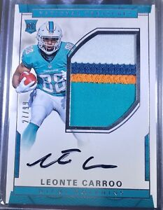 2016-National-Treasures-LEONTE-CARROO-JUMBO-3-CLR-Patch-On-card-AUTO-27-99-MIAMI