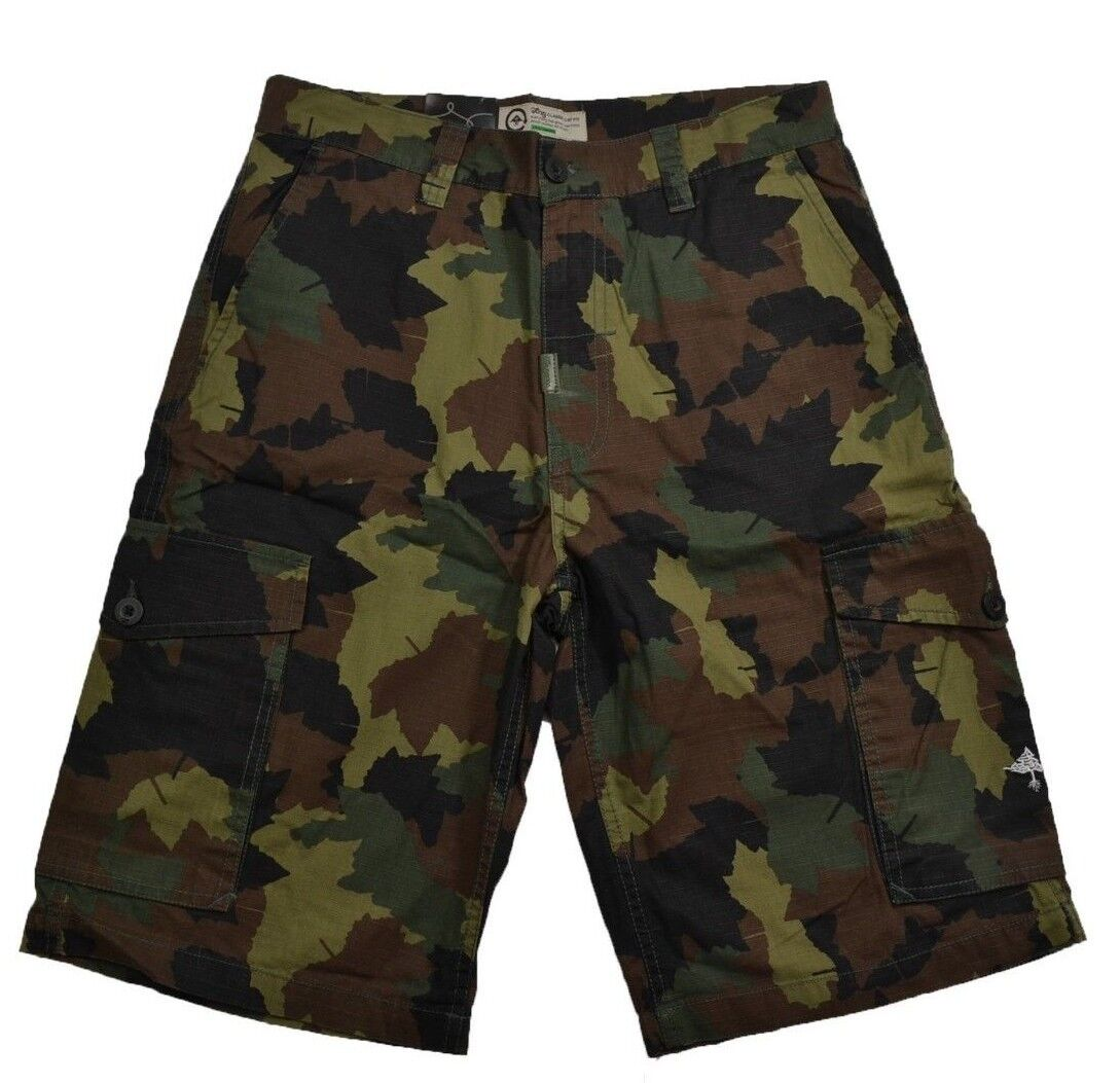 Lrg CC CLASSIC CARGO Olive Camo Traditional Rise Loose J146014 (D) Men's Shorts