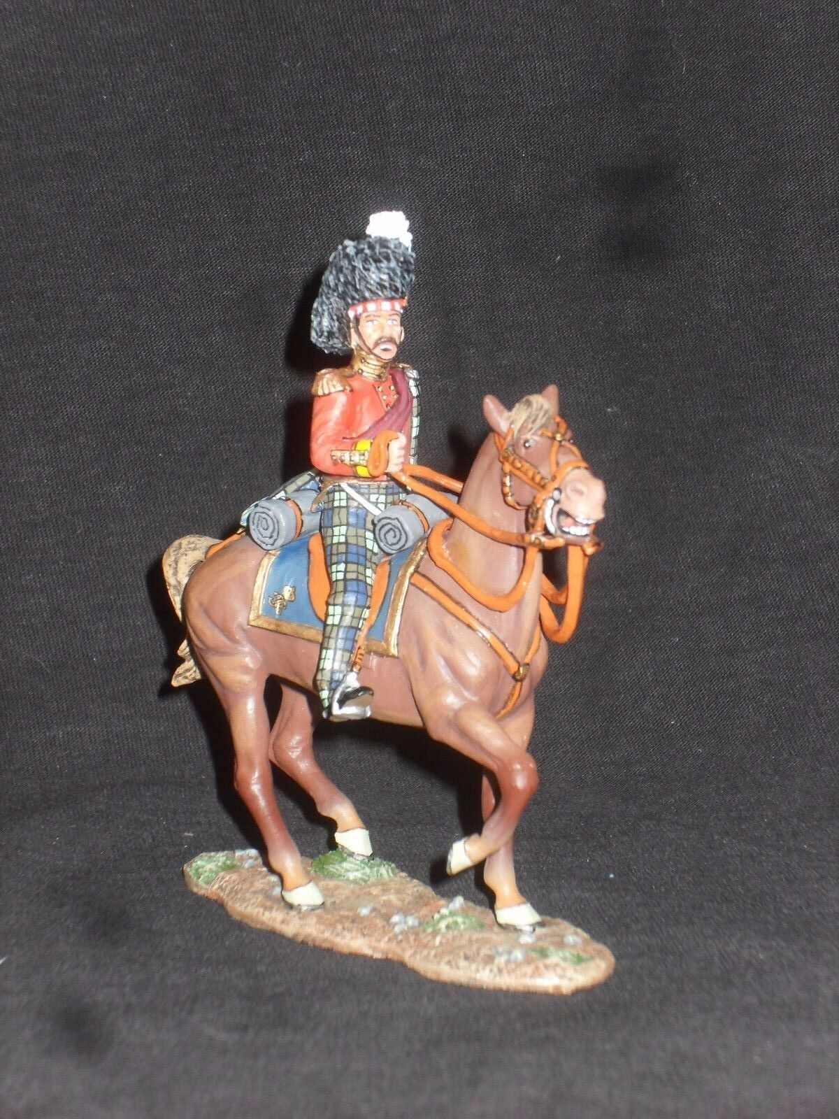 KING AND COUNTRY CRIMEAN WAR CRW35 MOUNTED 93RD HIGHLAND OFFICER.