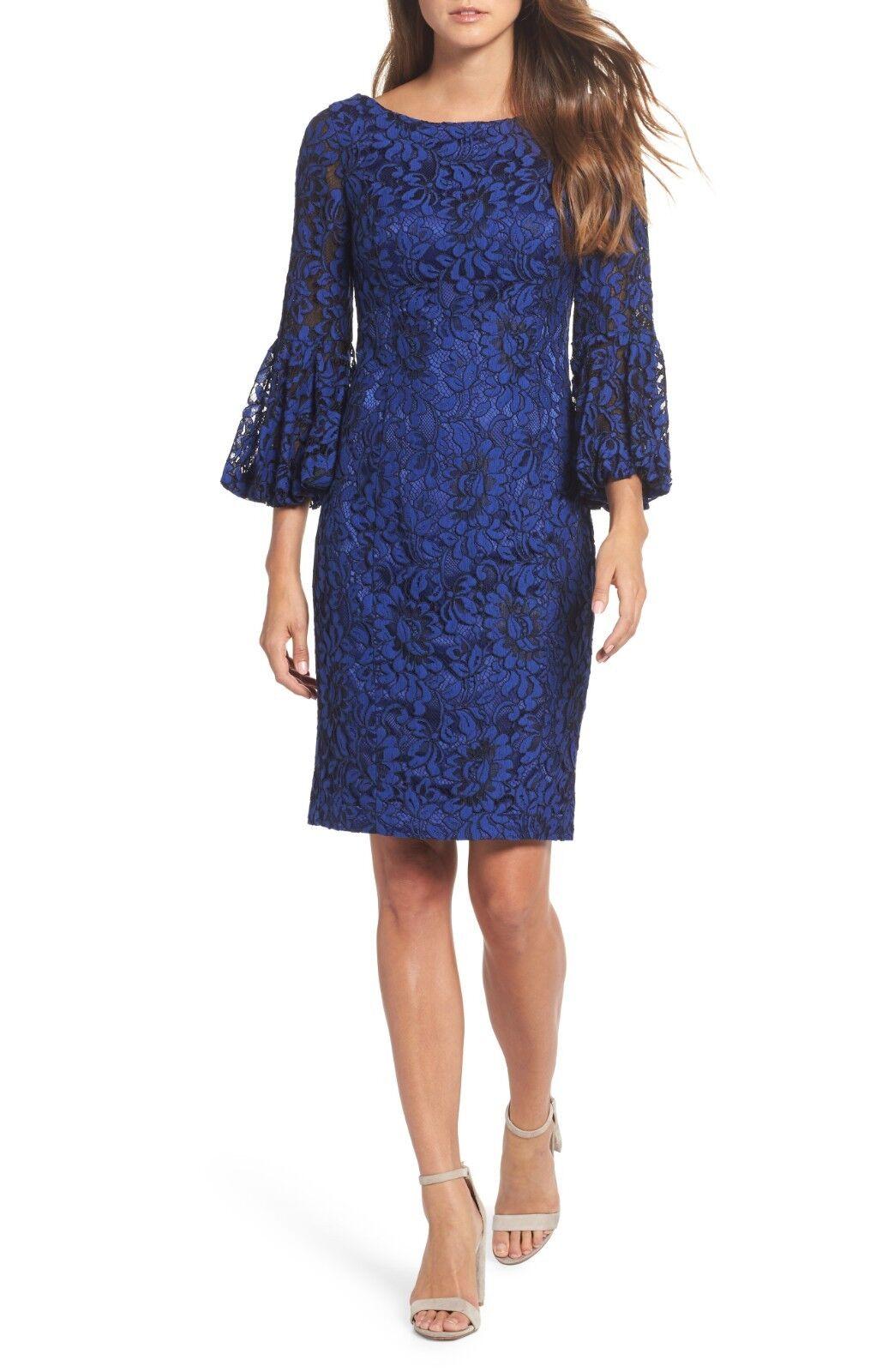 ELIZA J BELL SLEEVE LACE SHEATH DRESS sz 14