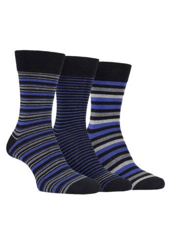 Farah 3 Pack Mens Breathable Soft Top Argyle Striped Cotton Rich Dress Socks