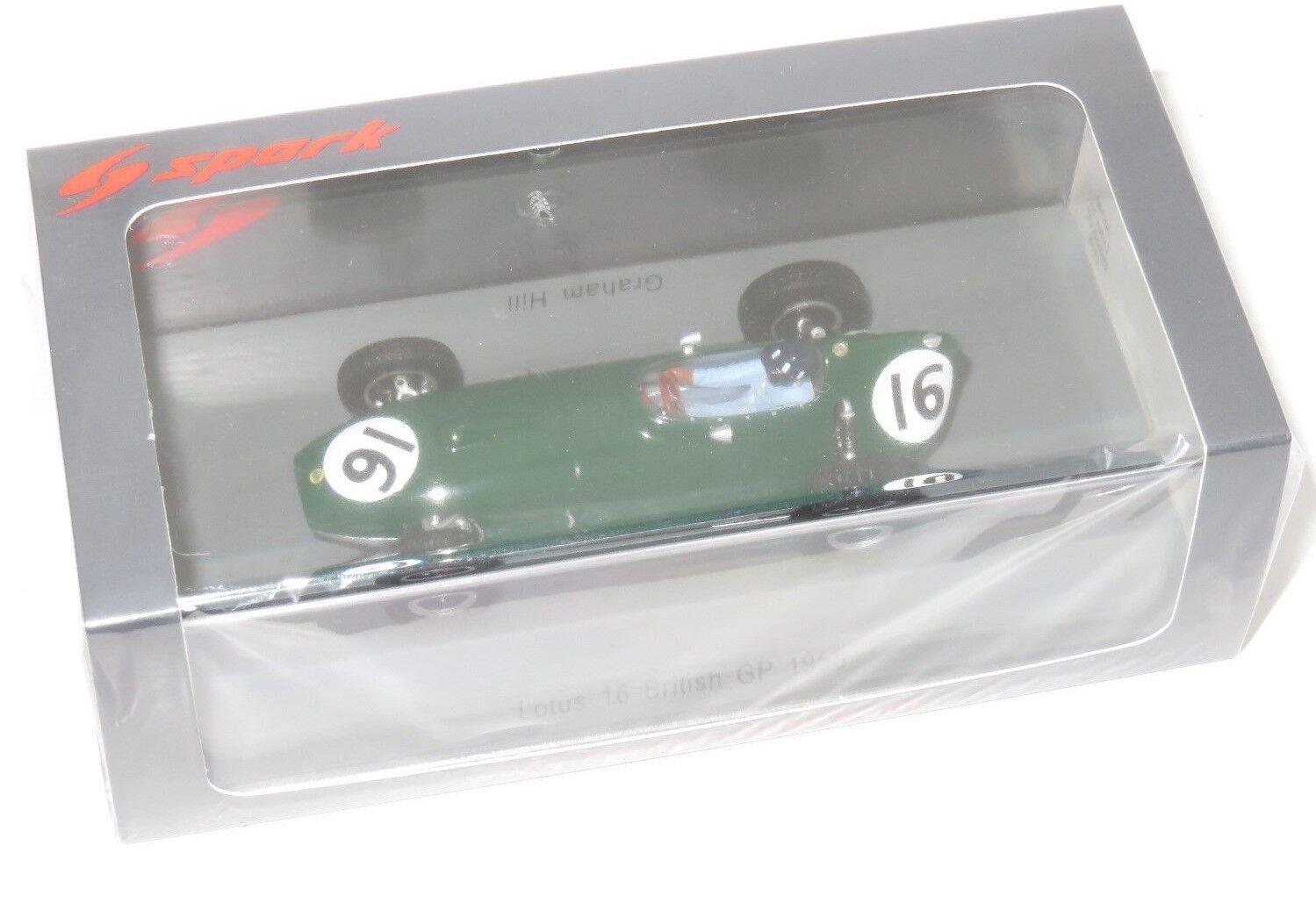 grandi risparmi 1 1 1 43 SPARK modello LOTUS 16 British Gre Prix 1958 Graham Hill  fabbrica diretta