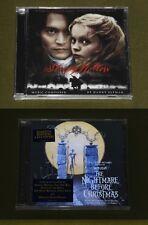 TIM BURTON DANNY ELFMAN 2x USA CD Lot NIGHTMARE BEFORE CHRISTMAS SLEEPY HOLLOW