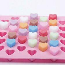 Silicone 55 Heart Cake Chocolate Cookies Baking Mould Soap Mould Tray Cube B8N5