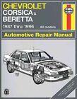 Chevrolet Corsica and Beretta (1987-1996) Automotive Repair Manual by J. H. Haynes, Jon LaCourse (Paperback, 1990)