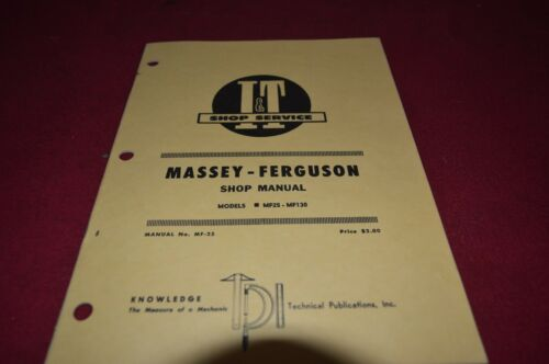 Discount Massey Ferguson 25 130 Tractor I&T Shop Manual YABE9