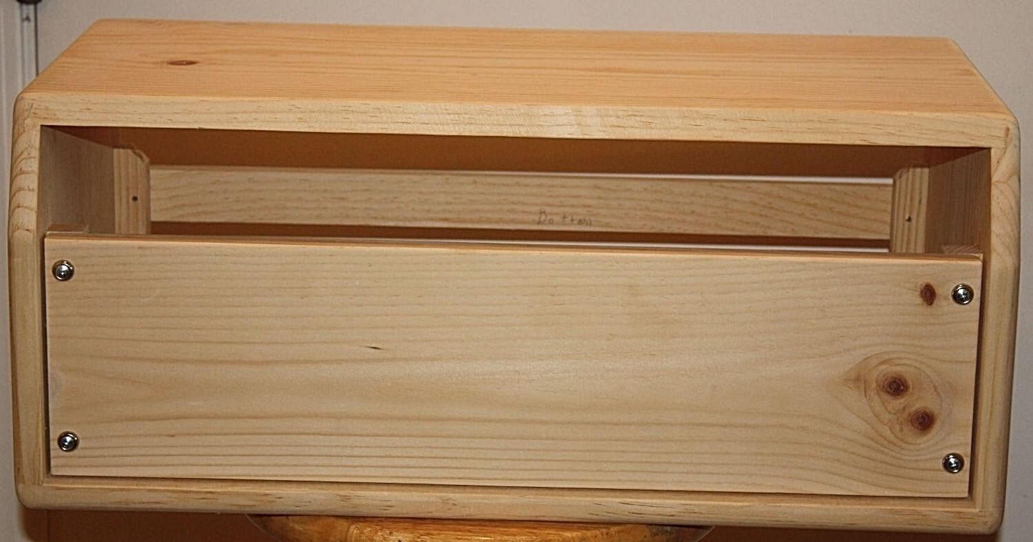 pine cabinet head joint dovetail 200 bass Buster Rawcabs