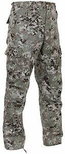 Tactical Military Style S 3XL Men/'s Sky Blue Digital Camo BDU Cargo Pants