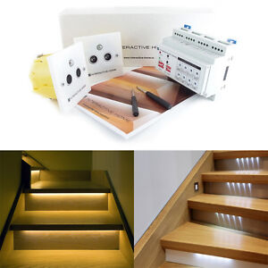 Details About Automatic Led Stair Lighting Set 16 Kit For Stairs With Steps Maximum 12v