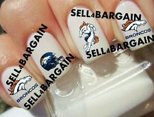 Flash Nfl Denver Broncos Football Logos Tattoo Nail Art Decals