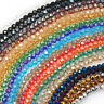 Czech Colorful Rondelle round Crystal Glass Spacer Loose Beads Charms 6/8 mm