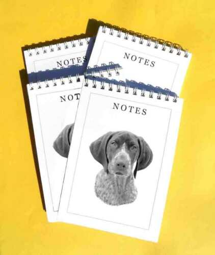 German Shorthaired Pointer Pack of 4 A6 Dog Notepads Gift Set