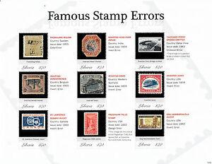 Liberia 2013 MNH Famous Stamps Errors 9v M/S Treskilling Yellow Inverted Jenny