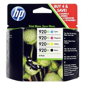 4x-HP-920-XL-ORIGINAL-OFFICEJET-6000-6500-7000-7500-PRO-TINTE-PATRONEN-SPAR-SET