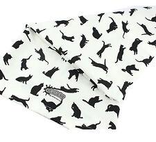 Asciugamano Tè Bianco Contemporaneo Motivo BLACK CAT GATTI 100% cotone fatta in UK REGALO